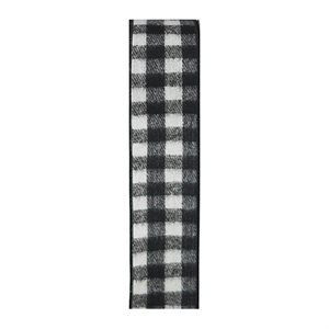 W BUFFALO PLAID NOIR & BLANC #9 25VRG