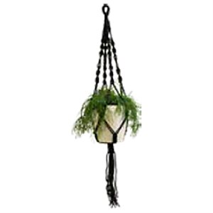 Macrame Noeud Spirale Simple Noir