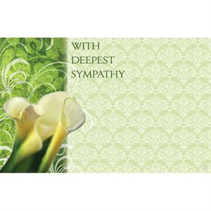 "Carte ""With deepest sympathy"""