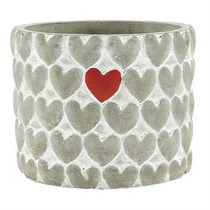 POT 4'' CIMENT GRIS + COEUR 12 / BTE